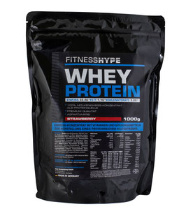 Fitnesshype Whey Protein Schokolade - 1000g Beutel - Inklusiv Gratis Shaker