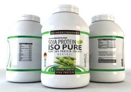 Fitnessmagnet - 3 x 1000 Gramm Soja Protein