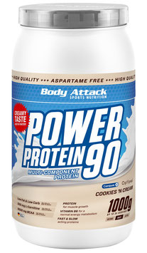 Body Attack Power Protein 90 - 1kg Vanille