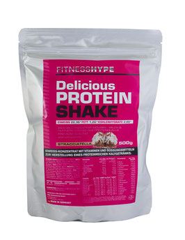 Fitnesshype Protein Shake für Frauen - 500g Beutel - Nahrungsersatz Shake