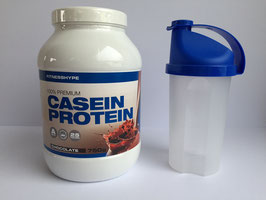 Fitnesshype Casein Pulver - 750g Dose inklusiv gratis Shaker