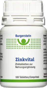 BURGERSTEIN ZINKVITAL 15MG - 100 Kapseln