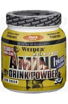 Weider Amino Drink Powder - 500G Dose - Pfirsich