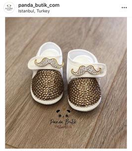 Schnurrbart Baby Schuhe