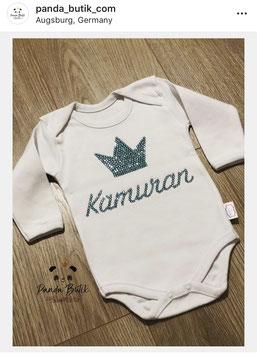 Baby-Body mit Wunschname und Motiv