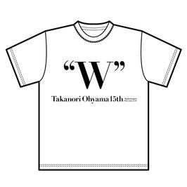 W オリジナルTシャツ_WHITE