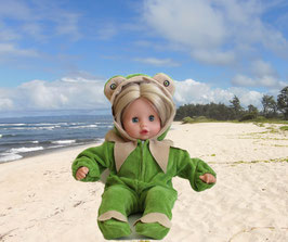 Kostüm Frosch für Puppen Gr. 35 cm