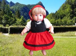 Kostüm Rotkäppchen für Puppen Gr. 43 cm