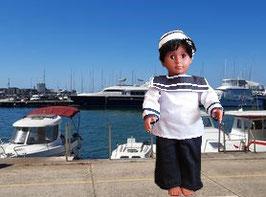 Kostüm Matrose für Puppen Gr. 45 cm