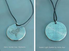 Cosmic Light Matrix - Titan Anhänger mit Herz