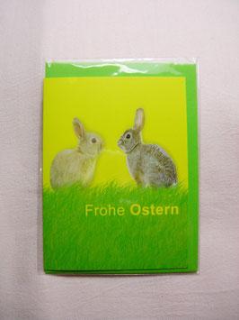 Kleines Ostergrußkärtchen Frohe Ostern