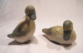 Keramik-Entchen braun-beige
