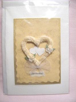 """Handgemachte Karte """"Zur Hochzeit"""""""