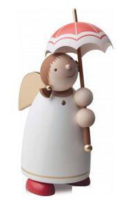 Schutzengel 8 cm mit Schirm, beige