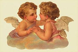"""Klapp-Karte mit Aufstellbild """"Zwei Engel"""""""