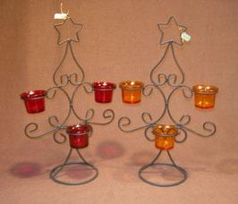 Teelichthalter Stern 3-flammig
