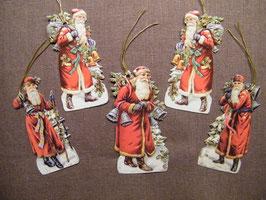 Geschenkanhänger Glanz-Reliefbilder Nikoläuse