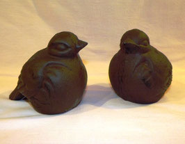 Vögel aus Gusseisen