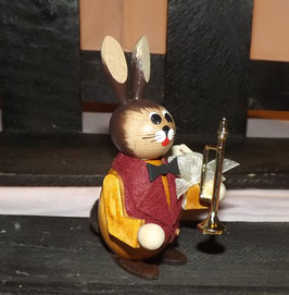 Hasen-Musiker mit Trompete