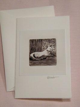 Künstlerkarte 'Siam-Katze'