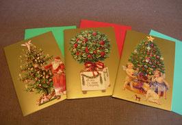 3D-Weihnachtskarten Set I