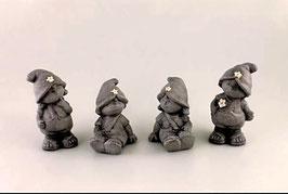 Keramik-Kinder im Steindesign