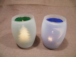 Teelichtglas im Glas Schattenspiel, groß