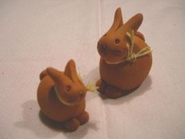 Kleine Häschen aus Terracotta
