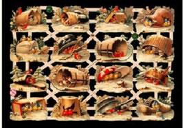Glanzbilder-Bogen Wintervögel