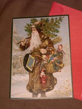 "Große Adventkalender-Karte ""Santa"""