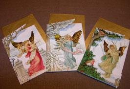 Weihnachtskarten-Set Engel II