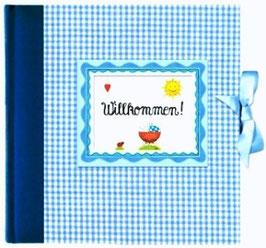 Babyalbum Willkommen! hellblau