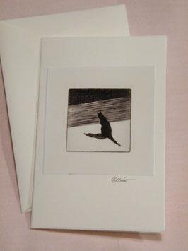 Künstlerkarte 'Schattenbild-Katze'