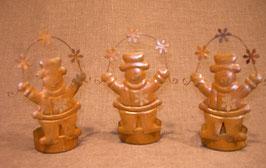 Teelichthalter Schneemännchen