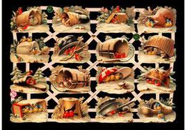 Glanzbilder-Bogen Wintervögelchen