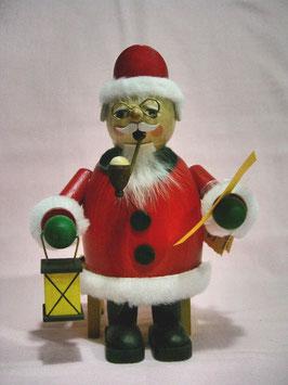 Räuchermännchen Weihnachtsmann mit Wunschzettel, sitzend