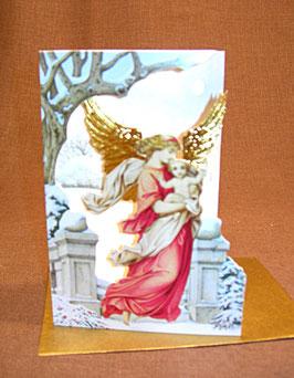 Weihnachtskarte Engel mit Kind