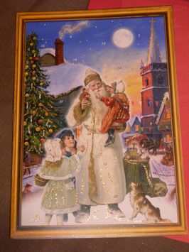"Große Adventkalender-Karte ""Nikolaus mit Kindern"""