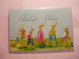 Ostergrußkarte Fröhliche Ostern