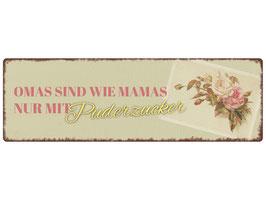 "Metallschild ""Omas sind wie Mamas..."