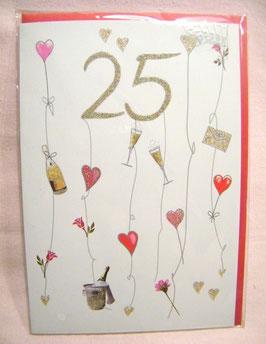 "Glückwunschkarte ""25"""
