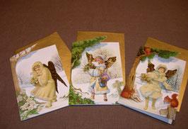 Weihnachtskarten-Set Engel I