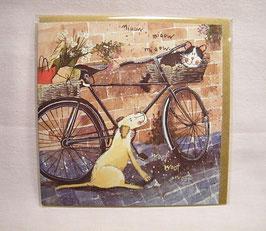 """Tierische Karte """"Hund mit Fahrrad"""""""