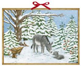 Weihnachtsesel, Wand-Adventkalender