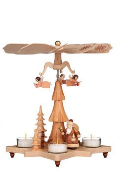 Pyramide Weihnachtsmann natur