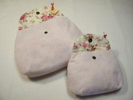 Accesscoire-Täschchen rosa/weiß