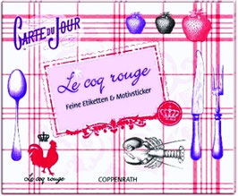 "Stickerbuch ""Le coq rouge"""