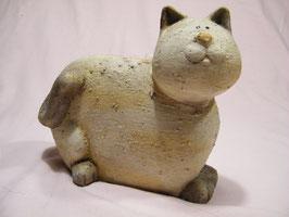 Keramik-Katzen beige
