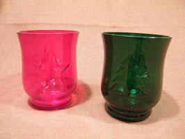 Teelichtgläser rot oder grün mit Motiv
