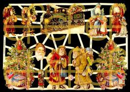 Glanzbilder-Bogen Weihnachtsmotive